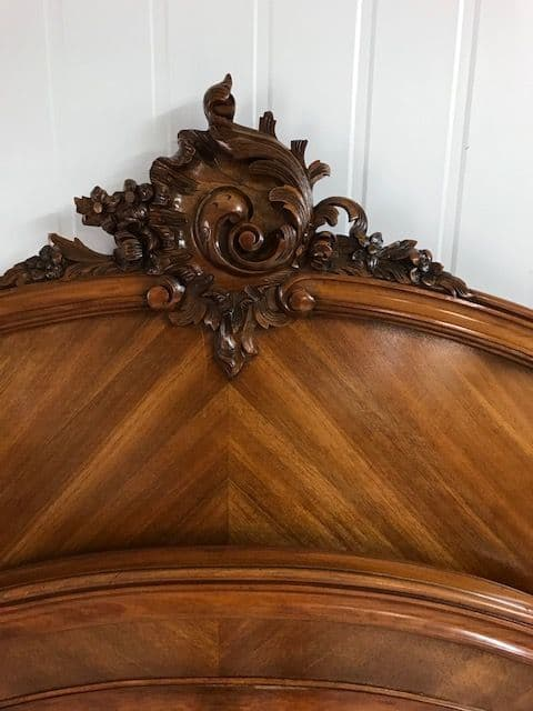 SOLD - Lovely Antique  French Double Bed - jb65